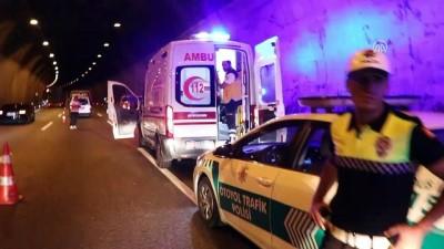 direksiyon - Bolu Dağı Tüneli'nde trafik kazası: 3 yaralı - BOLU