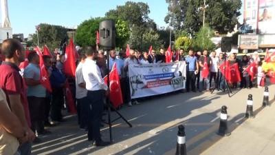 Iğdır'da dolar kurunun yüksek olması protesto edildi