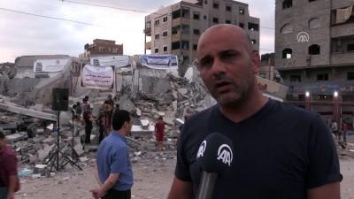 İsrail'in vurduğu kültür merkezinin enkazında Gazze'ye destek konseri - GAZZE
