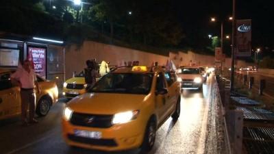 Taksicilerden ABD Başkonsolosluğu önünde protesto