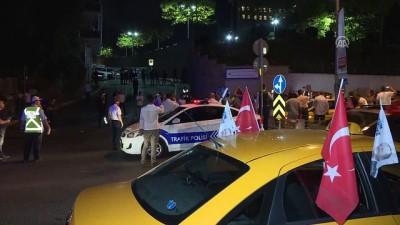 Taksicilerden ABD'ye tepki - İSTANBUL