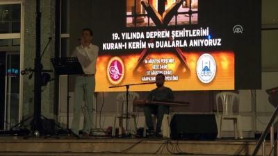 17 Ağustos Marmara Depremi'nin 19. yılı - SAKARYA