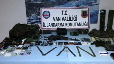 Başkale'de etkisiz hale getirilen teröristlerin sığınağı bulundu