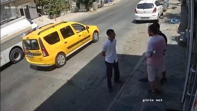 Şapka takıp tişört giyerek kılık değiştiren hırsızlar kamerada
