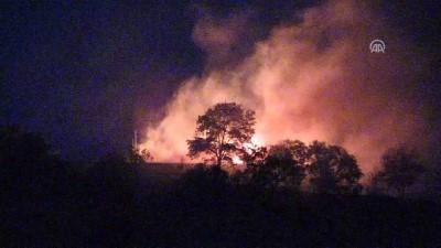 Erzincan'da askeri gazinonun ek binasında yangın