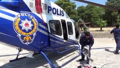 Muğla'da 'helikopterle' bayram denetimi