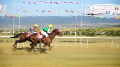 Taşköprü'de düzenlenen at yarışları nefesleri kesti