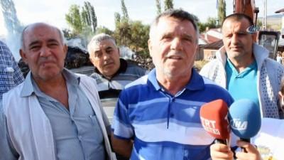 Tosya'da 8 evin küle döndüğü yangının bilançosu havadan görüntülendi