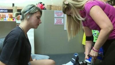 Protez bacağıyla sporda engel tanımıyor - İZMİR