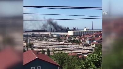 Demir çelik fabrikasında yangın - ZONGULDAK