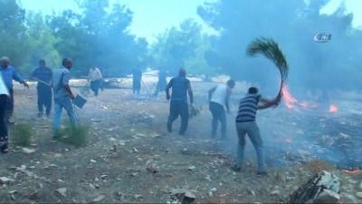 Göbeklitepe Ormanı'nda yangın devam ediyor