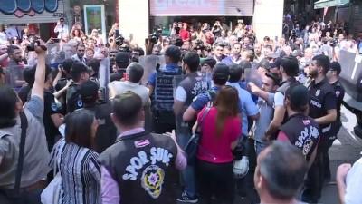 Taksim'de izinsiz gösteriye polis müdahalesi - İSTANBUL