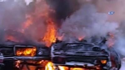 hurda arac -  Hurda araç deposunda çıkan yangında hurda araçlar yandı