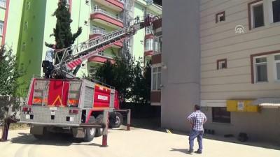 itfaiye eri - Apartman dairesinde yangın - AMASYA