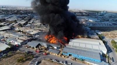 Konya'daki büyük yangının sebebi belli oldu, bir kişi gözaltına alındı