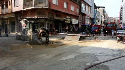Turgutlu'da doğalgaz borusu patladı - MANİSA