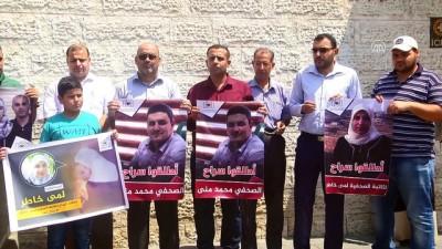 Filistinli basın mensuplarından eylem - GAZZE