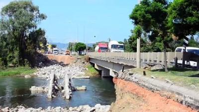 Selin yıktığı köprüde fore kazık çalışmaları başladı