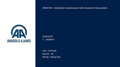 Trafik kazası: 4 yaralı - ARDAHAN