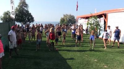 Bodrum'dan Çelebi Adası'na yüzdüler - MUĞLA