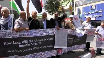 """isgal -  - Filistinli Şehitlerin Aileleri İsrail'i Protesto Etti - """"şehitlerimizin Cesetlerini Defnetmek İstiyoruz"""""""