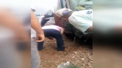 4 kişinin yaralandığı kaza sonrası yaşanılanlar kamerada