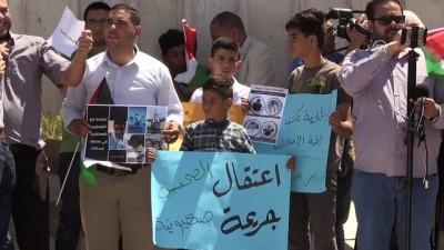 Filistinli tutuklu gazetecilere destek gösterisi - RAMALLAH
