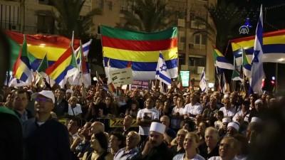 İsrail'de onbinler ırkçı yasayı protesto etti - KUDÜS