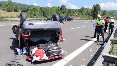 Otomobil ile tır çarpıştı: 1 ölü, 4 yaralı - BOLU