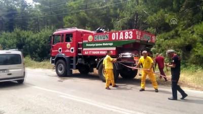 Seyir halindeki otomobil yandı - OSMANİYE