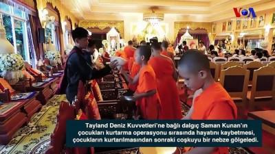 Tayland'da Mağaradan Kurtarılan Çocuklar Budist Rahibi Oldu
