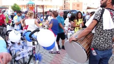 Bisikletli sünnet düğünü konvoyu - EDİRNE