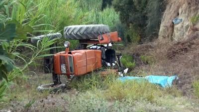 Manavgat'ta tarla süren yaşlı adam traktörün altında kalarak can verdi