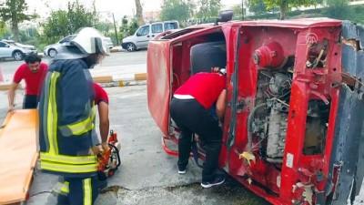 Kadirli itfaiyesinden araç yangını tatbikatı - OSMANİYE