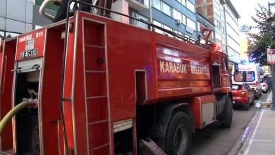 Karabük'te iş yerinde çıkan yangın maddi hasara neden oldu