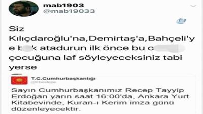 Şişli Belediye Başkanı'nın korumasından Cumhurbaşkanı ile ilgili skandal tweet