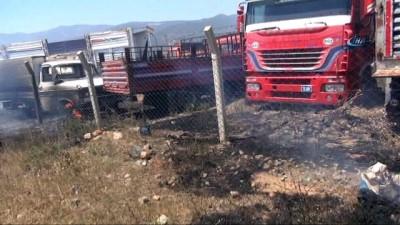 Yediemin otoparkındaki yangın 1 saatte kontrol altına alındı