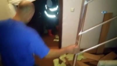 Bolvadin'de selden etkilenen 320 evde çalışma başlatıldı