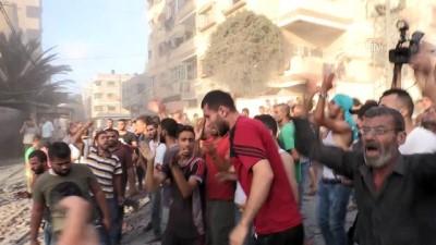 savas ucagi - İsrail'den Gazze'ye hava saldırısı - GAZZE