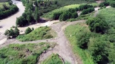 aybasi - Ordu'daki sel - Yıkılan köprüler havadan görüntülendi (1)