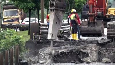 korkuluk - Selde yıkılan Cevizdere Köprüsünün beton ve korkulukları sökülüyor - ORDU