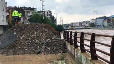 Tabakhane Deresi'nin debisi yağış dolayısıyla yükseldi (3) - ORDU