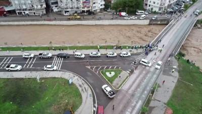 Tabakhane Deresi'nin debisi yağış dolayısıyla yükseldi (4) - ORDU
