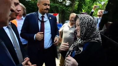 Ulaştırma ve Altyapı Bakanı Mehmet Cahit Turan, afet bölgesinde incelemelerde bulundu