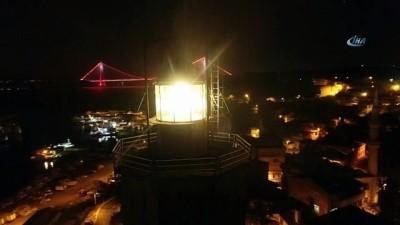 Balıkçı teknelerinin İstanbul Boğazı'nda denize açılmaları havadan görüntülendi
