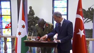 Akar, Burundi Genelkurmay Başkanı'nı kabul etti - ANKARA