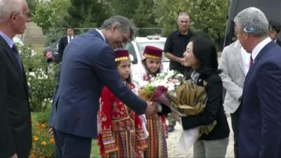 Prenses Akiko Kırşehir'de müze alanında incelemelerde bulundu
