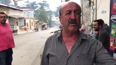 yangin yeri -  Hatay'daki yangında vatandaşın boş su göleti isyanı
