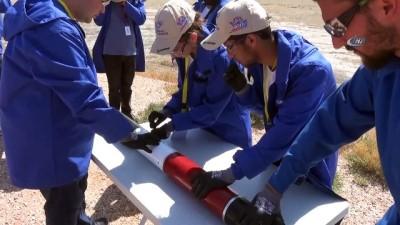 Teknofest ile öğrencilerin füzeleri gökyüzüyle buluştu... Atış alanı havadan görüntülendi