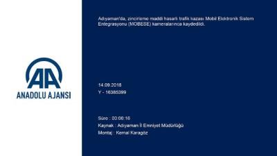 Adıyaman'da zincirleme trafik kazası MOBESE'ye yansıdı